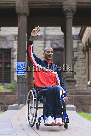 man in wheelchair who had
