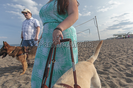 young couple with visual impairments and