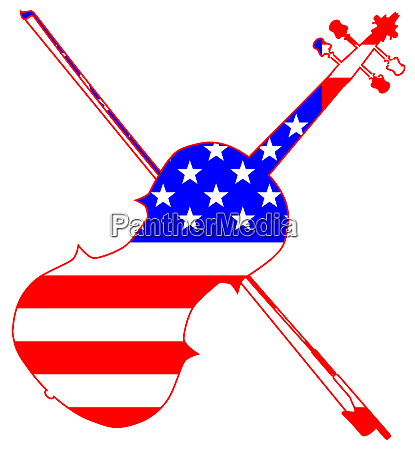 stars and stripes fiddle silhouette