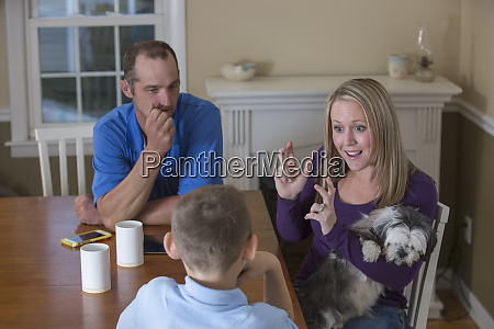 family with hearing impairment saying in