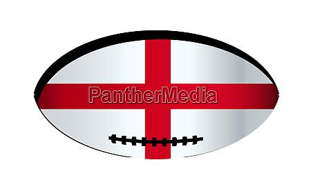 england flag rugby ball