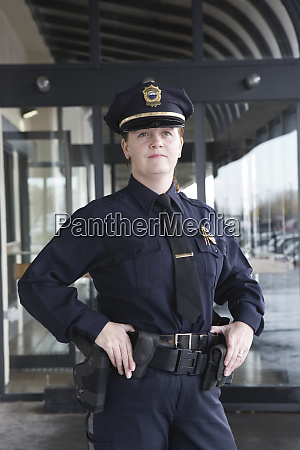 portrait of a female police sergeant