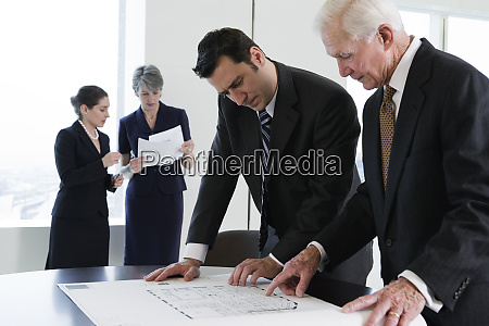 view of businesspeople planning in an