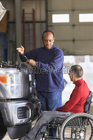 automotive maintenance technician and supervisor with