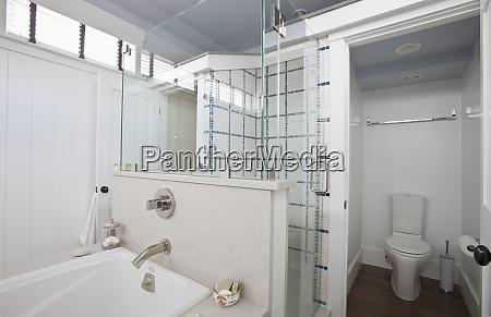 bathroom water efficiency toilet and tub