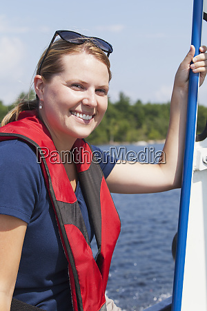 public works engineer on service boat