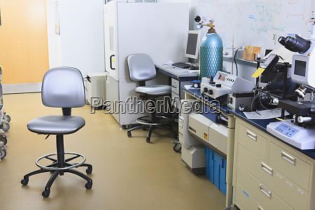 university chemistry laboratory with x ray