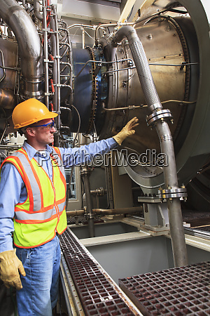 engineer at fuel ignition stage of