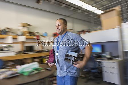 cable engineer preparing to visit customers