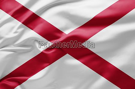 waving state flag of alabama