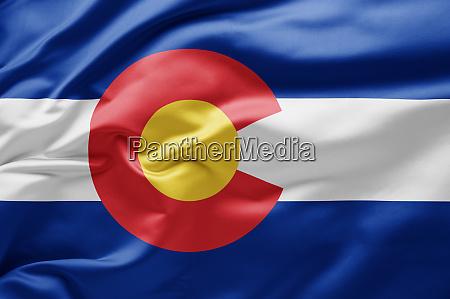 waving state flag of colorado