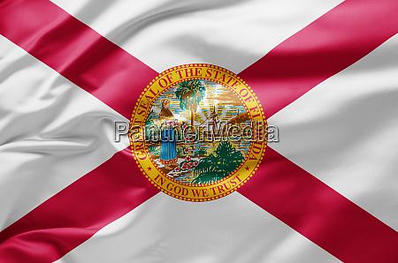 waving state flag of florida