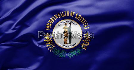 waving state flag of kentucky