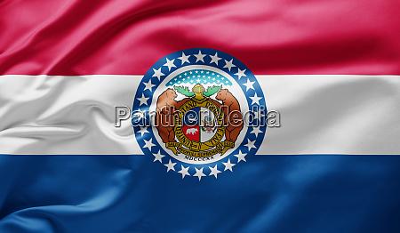 waving state flag of missouri