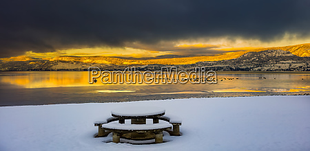 winter in the okanagan valley on