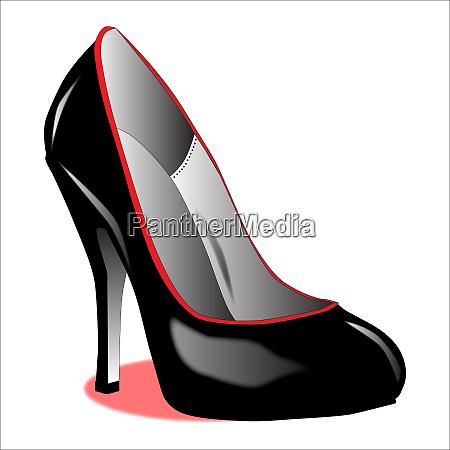 stiletto heel shoe