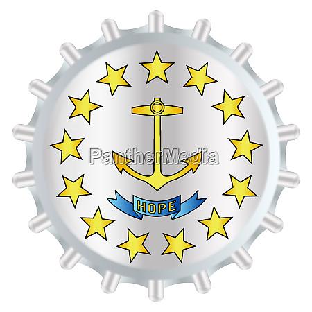 rhode island bottle cap flag