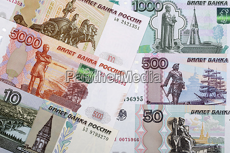 russian ruble a background