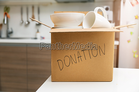 donate household items box with