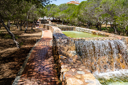 water feature in park