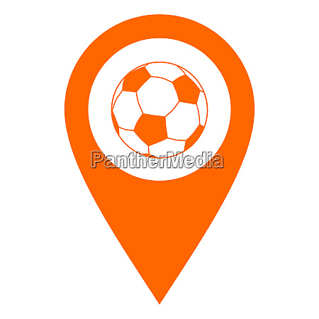 soccer ball and location pin