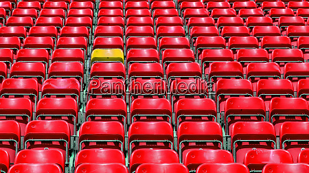 grandstand fans in the stadium