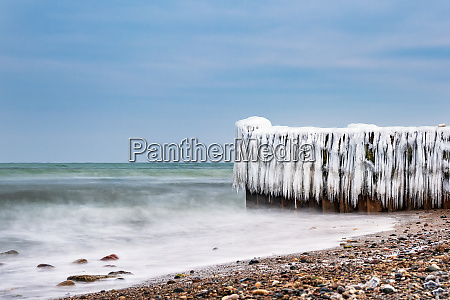 winter on shore of the baltic