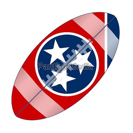 tennessee state usa football flag