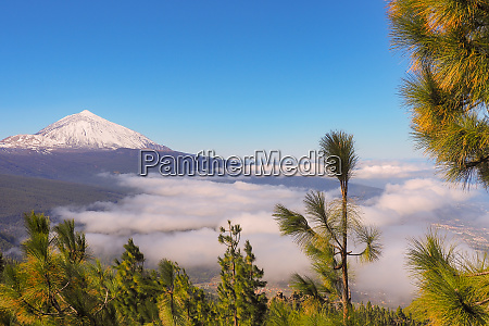 pico el teide on tenerife with