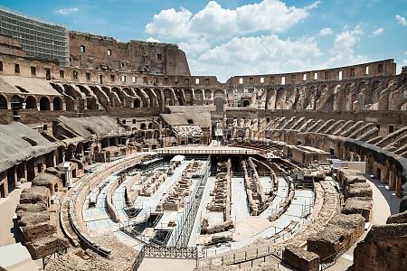 colosseum interior in rome italy