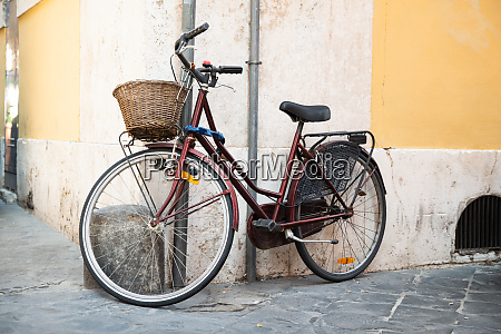 classic bicycle on old italian street