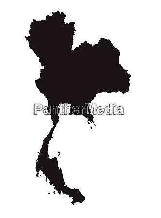 thailand silhouette map