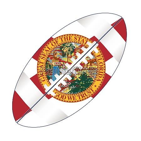 florida usa football ball flag