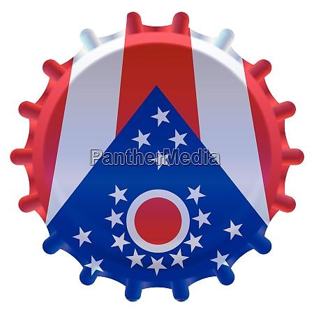 ohio bottle cap flag