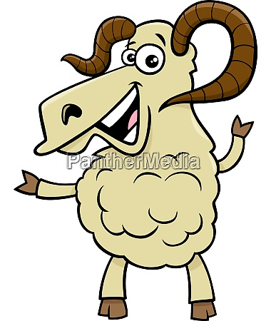 ram farm animal cartoon character