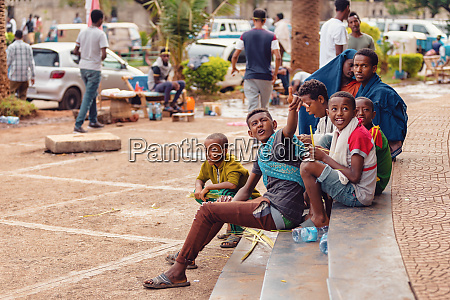teenager boys on the street ethiopia