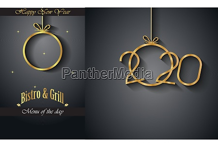2020 happy new year restaurant menu