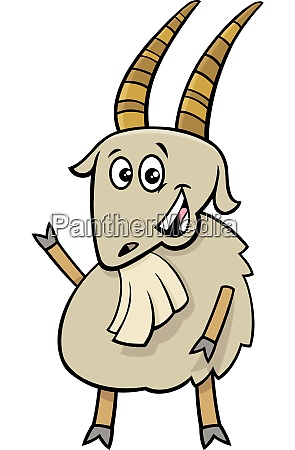 cheerful goat farm animal cartoon character