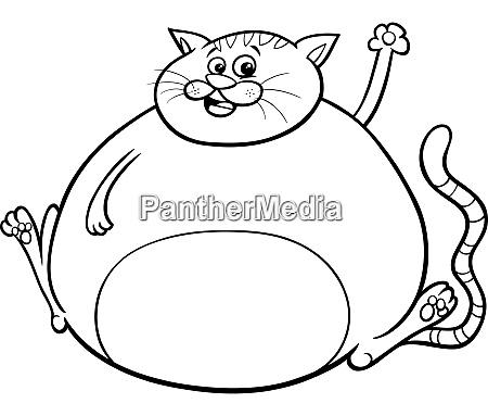 Fat Cat Cartoon Character Coloring Book - Royalty Free Photo - #27318068  PantherMedia Stock Agency