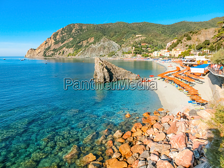 panorama of monterosso al mare beach