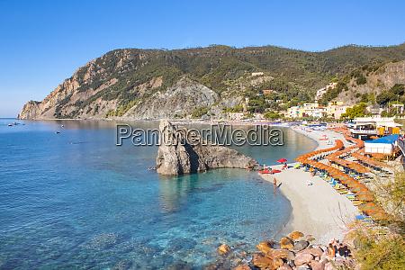panorama of monterosso al mare beach