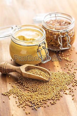 mustard seed and yellow mustard and