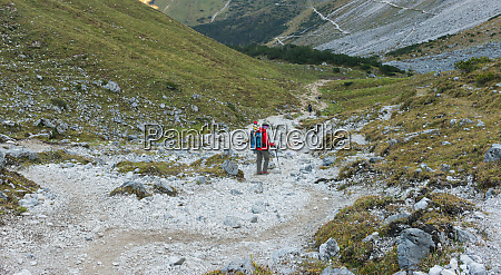hiking excursion in the karwendel