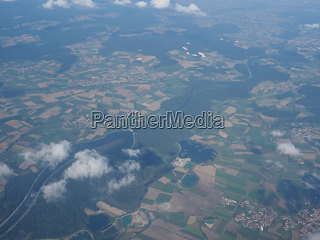 aerial view of german landscape
