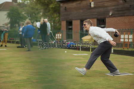 excited lawn bowler