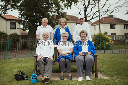 senior adults on a bench
