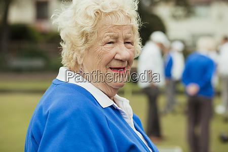 close up of senior woman