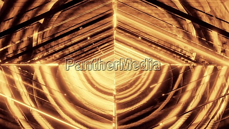 abstract eye glowing golden quarter wireframe
