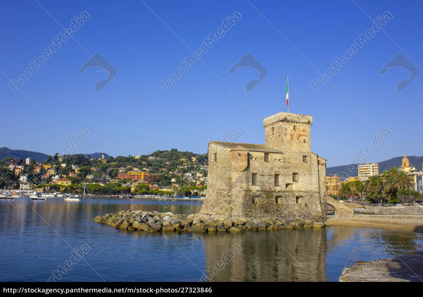 italian, castles, on, sea, italian, flag - 27323846