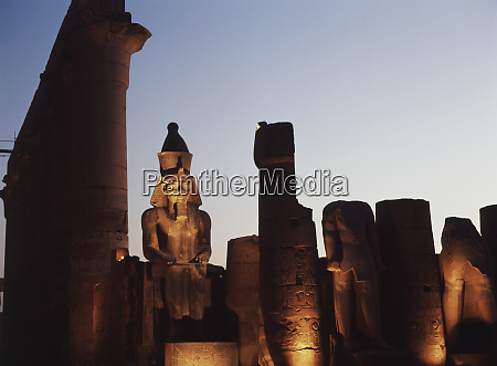 egypt luxor temple of luxor at